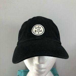 Life is Good unisex black adjustable hat